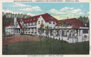 KNOXVILLE, Tennessee, 1930-1940's; Whittle Springs Hotel, Commercial And Plea...