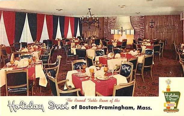 Round Table Room Holiday Inn Framington Massachusetts MA
