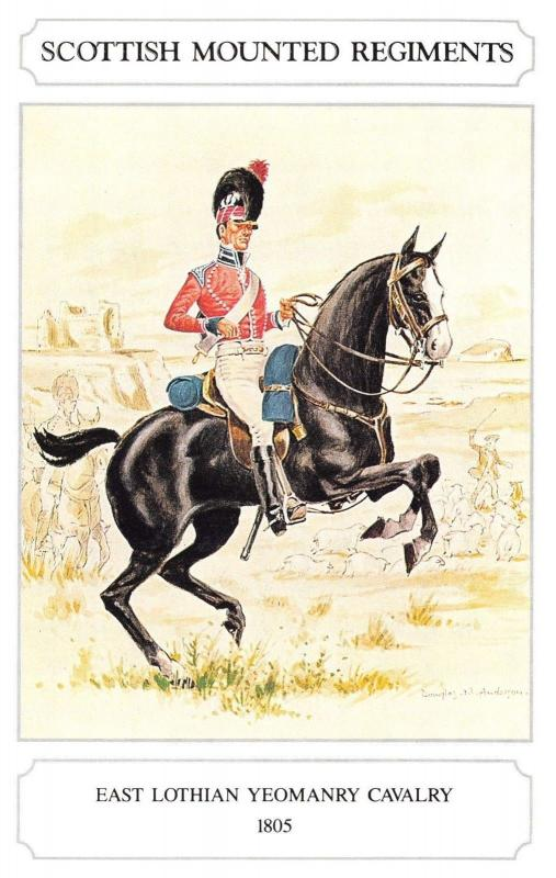 Postcard The Scottish Mounted Regiment Series, East Lothian Yeomanry Cavalry