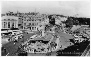 RPPC The Square BOURNEMOUTH England UK Street Scene ca 1930s Vintage Postcard