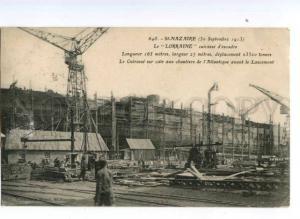 173513 FRANCE St-NAZAIRE cruiser LORRAINE slip Vintage RPPC
