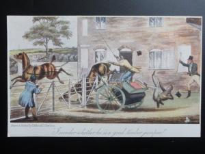 Raphael Tuck Old Print Series 2722 PONY & TRAP 1904 Art by H.Alken & T.J.Rawlins