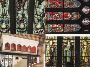 Skipton Holy Trinity Church Stained Glass Window Altar 4x Postcard s