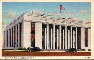 New York Binghamton Post Office Curteich