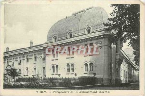 Old Postcard Perspective Vichy Thermal Establishment