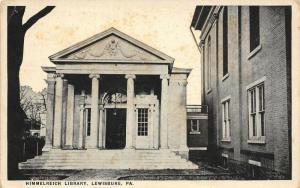 Lewisburg Pennsylvania~Himmelreich Library~Presbyterian Church~1916 B&W Postcard