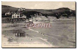 Old Postcard Spain Spain Espana Fuentarrabia Villas de Playa y Monte Santelmo