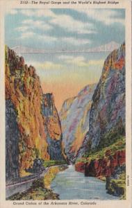 Colorado The Royal Gorge and World's Highest Bridge 1955