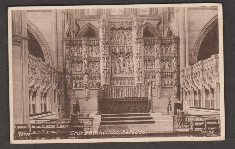 United Kingdom Churches - Truro Cathedral Reredos 1947- Internal View