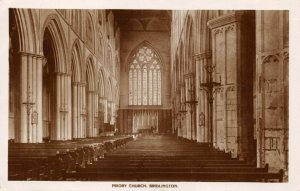Vintage East Yorkshire RP Postcard Priory Church Interior Bridlington GM6