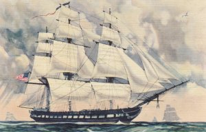 Sailing Vessel: U.S. Frigate Constitution OLD IRONSIDES , 30-40s