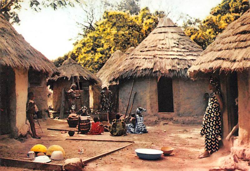 Africa, Afrika Village Africain  Village Africain