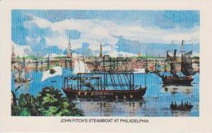 John Fitch's Steamboat on the Delaware River, Philadelphia Pennslyvania