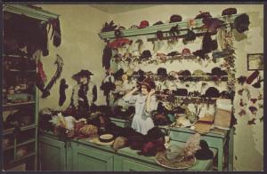 Millinery Shop,Stonefield,Cassville,WI Postcard