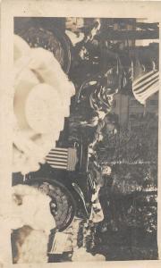 F37/ Interesting Real Photo RPPC Postcard c1910 President Taft Car Patriotic 3