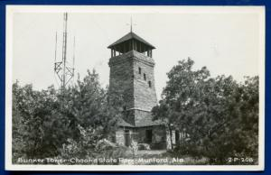 Munford Alabama al Cheaha State Park Bunker Tower Real Photo Postcard RPPC