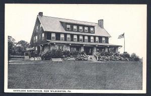 Overlook Sanitarium New Wilmington PA unused c1910's