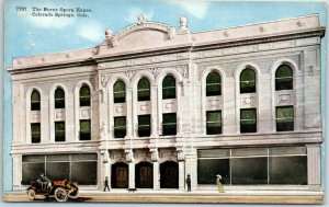 Colorado Springs Colo. Postcard The Burns Opera House Street View HHT c1920s
