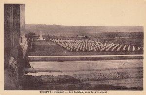 THIEPAL (Somme) , France , 1910-20s ; Les Tombes , vues du Monument