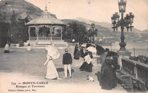 Monte Carlo, Monaco, Kiosque et Terasses, early postcard used