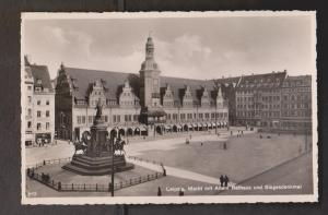 View Of Market with old town hall and victory monument - Real Photo - Unused