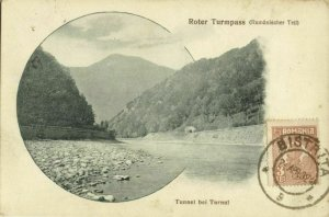 romania, Turnu Roșu Pass, Olt River, Vâlcea County (1932) Postcard
