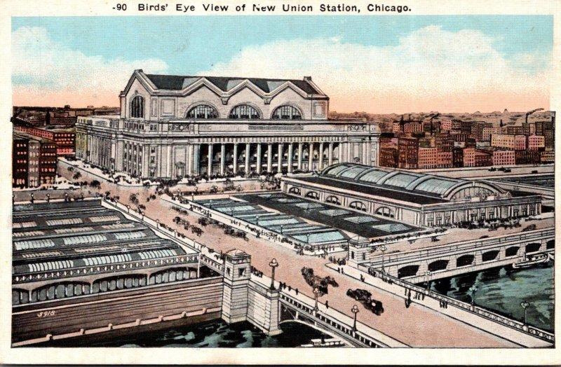 Illinois Chicago New Union Station Birds Eye View