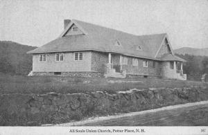 Potter Place New Hampshire view of All Souls Union Church antique pc Z13439