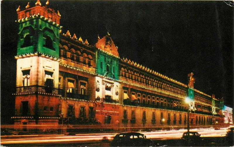 Mexico City the National Palace night view