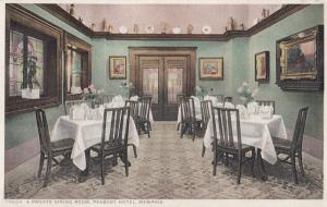 Dining Room From Peabody Hotel Memphis Old USA Postcard