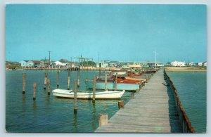 Postcard DE Dewey Beach Delaware c1950s Yacht Basin Marina Boats AG9
