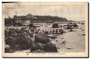 Old Postcard Chatelaillon Angoulins The Rocks