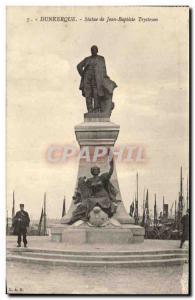 Old Postcard Dunkirk Statue Jean Baptiste Trystram Charter