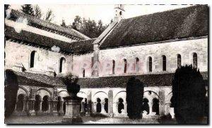 Postcard Abbey of Fontenay Interieur du Cloitre