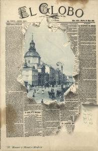 spain, MADRID, El Globo Newspaper, Calle de Alcala (1902)