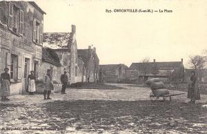 Postcard Vintage La Place OBSONVILLE France French Reproduction Card