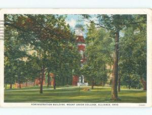 W-Border Mount Union College - Alliance - Near Canton & Akron Ohio OH E1970