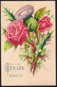 Reward of Merit  Three Floral Cards