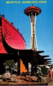 Washington Seattle World's Fair Information Booth and Space Needle