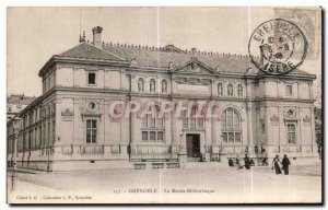 Old Postcard Grenoble The Museum Library Library