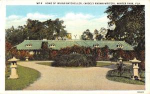 Winter Park Florida Irving Batcheller Home Street View Antique Postcard K34656