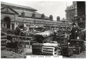 Vintage Repro London Postcard, Covent Garden Market c1912 19S