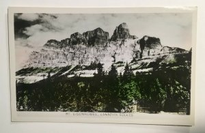 VTG RPPC Real Photo Canada Color Tint View Rockies Eisenhower Castle Mountain A2
