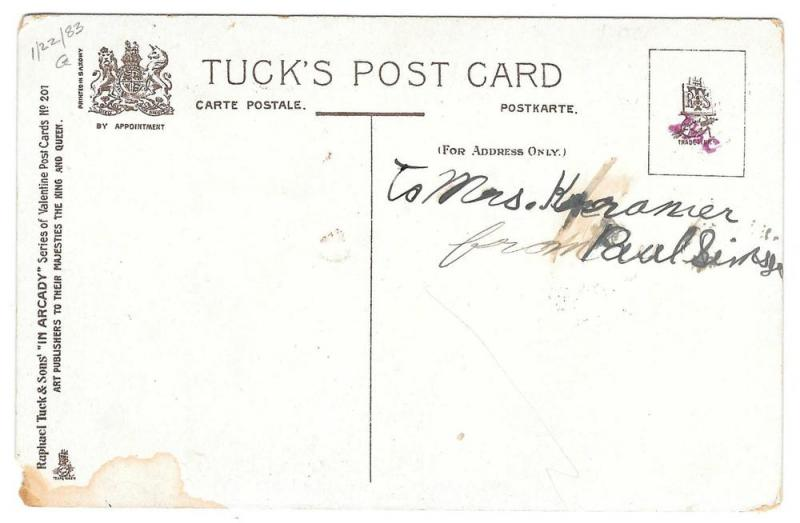 Tuck Drayton Wiederseim Postcard Valentine In Arcady Girls