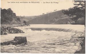 France, La Loire aux environs de ROANNE, La Saut de Pinay, unused Postcard CPA