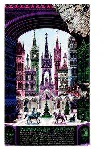 Victorian London, England by Artist David Gentleman, 4 X 7 inches,