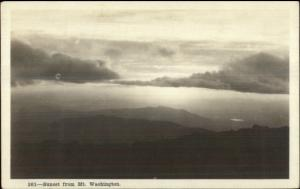 White Mountains NH Sunset From Washington SHOREY Real Photo Postcard