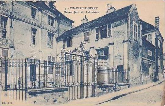 France Chateau Thierry Maison Jean de Lafontaine