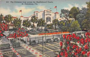 11780 FL  St. Petersburg 1930's  Coliseum from across the Shuffleboard C...