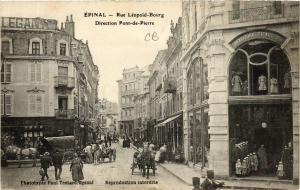 CPA ÉPINAL Rue Leopold-Bourg Direction Pont-de-Pierre (405559)